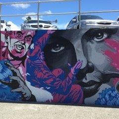 Bondi beach graffiti wall