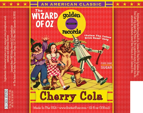 The Wizard of Oz Cherry Cola Label.