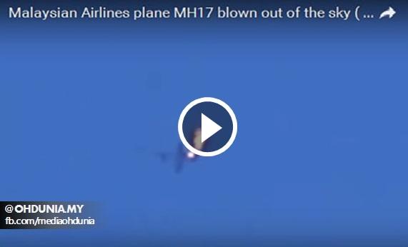 Video Misteri Saat-Saat Pesawat MH17 Jatuh Dan Terbakar Di Udara?