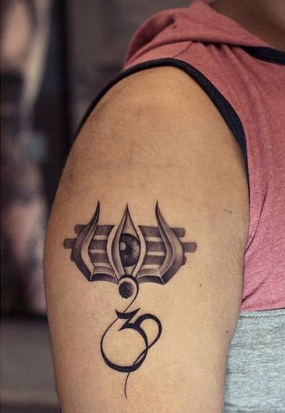 om and shiv tattoo