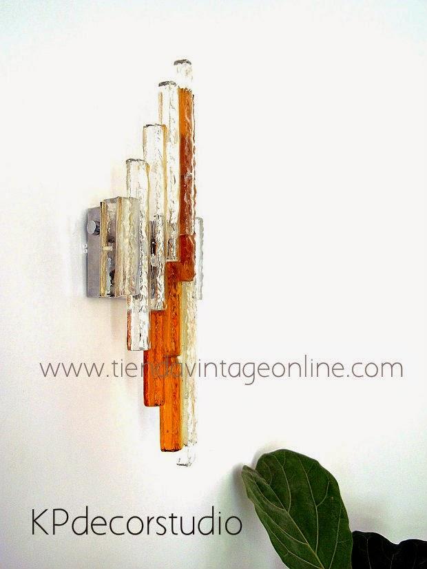 apliques de lujo. lámparas de alto nivel. apliques vintage poliarte.