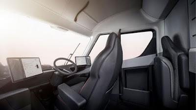 tesla semi electric truck interior