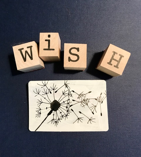 """Wish"" drawing, dandelion"