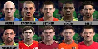Faces: Gapon, Holmen, Kacharava, Khadartsev, Kokorin, Korobov, Loria, Mensah, Ustinov, Oleg Kuzmin, Pes 2013