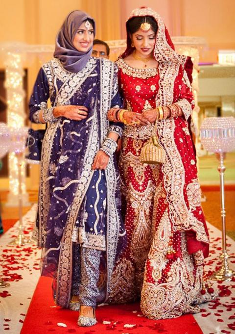 baju pengantin muslimah india