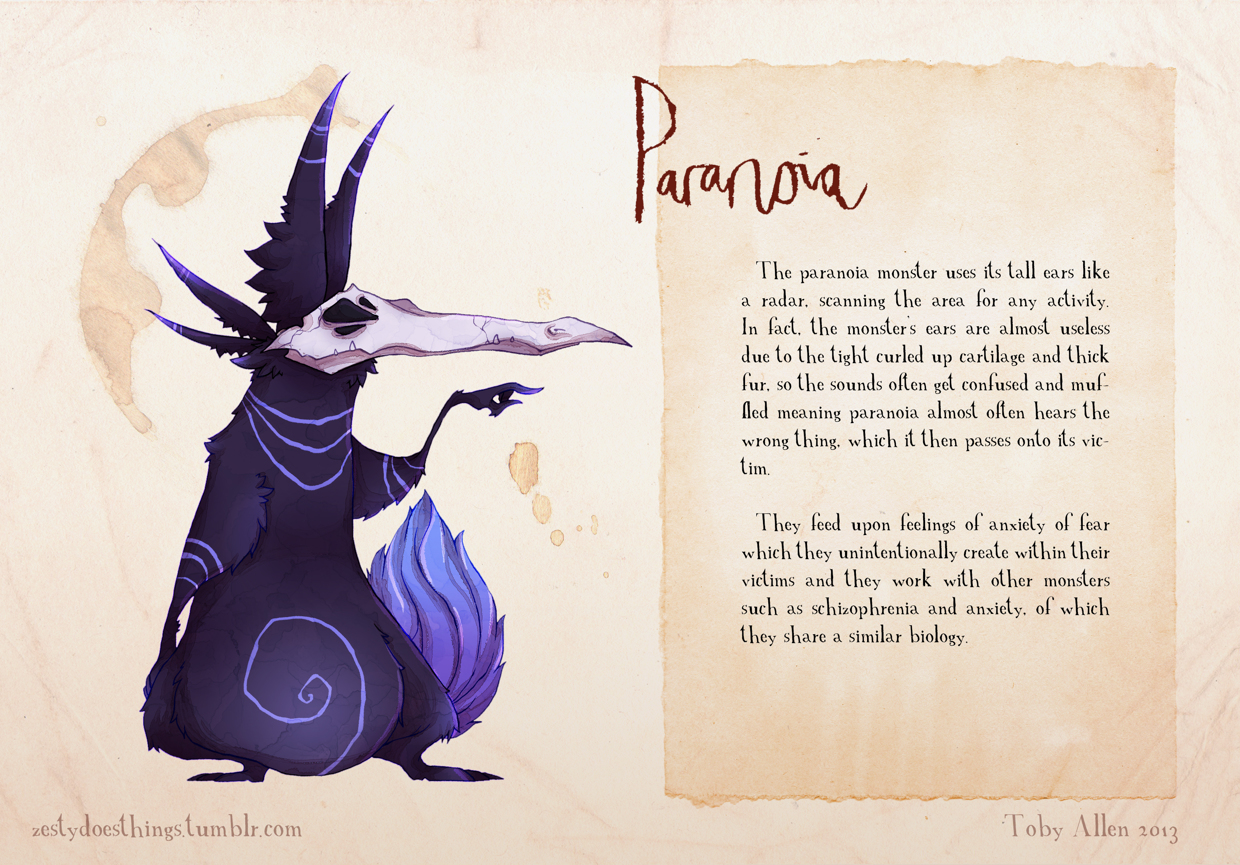 11-Paranoia-Toby-Allen-Monster-Illustrations-to-Embody-Mental-Illness-www-designstack-co