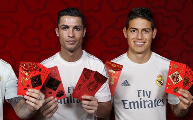 Madrid y Barça felicitan el Año Nuevo chino