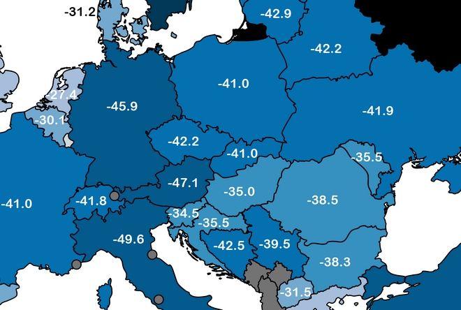 Πού, πότε και πόσο ήταν η χαμηλότερη θερμοκρασία που έδειξε ποτέ το θερμόμετρο στην Ελλάδα; (Χάρτης)
