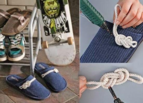 macrame, nudos, zapatillas, tunear, customizar, manualidades