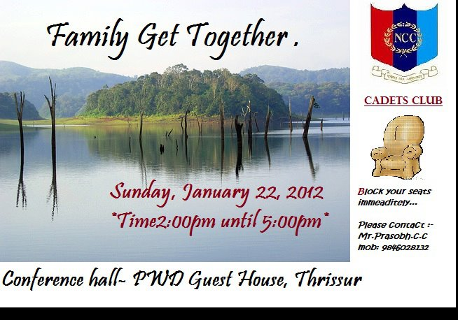 CADETS CLUB FAMILY GETTOGETHER INVITATION CARD  Invitation Card For Get Together
