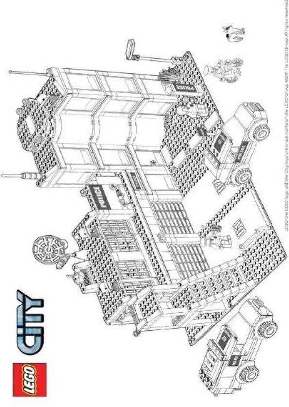 Ausmalbilder zum Ausdrucken: Malvorlagen Lego City Bilder zum Ausmalen