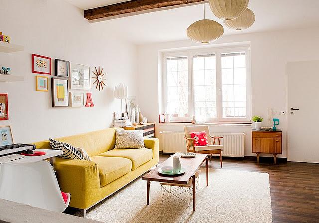 Warna Cat Interior Rumah dengan 25 Desain Model Sofa
