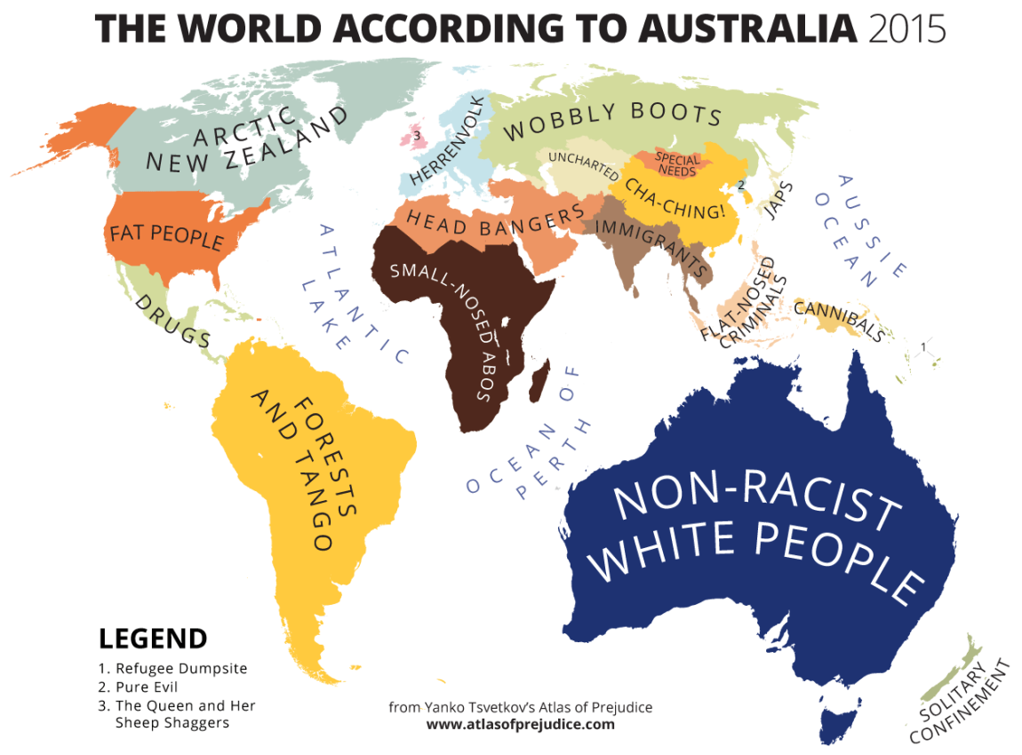 The world according to Australia