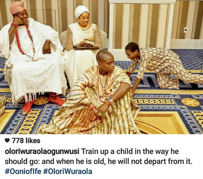 According to Ooni of Ife's wife on Instagram