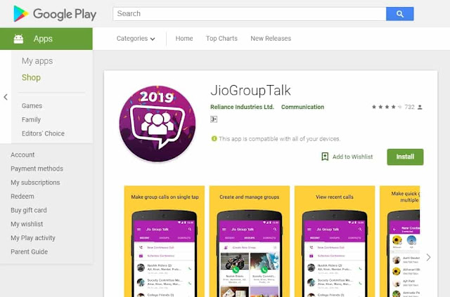 This App volition help y'all to accept a conference amidst the  Jio Group Talk launched for conference callings