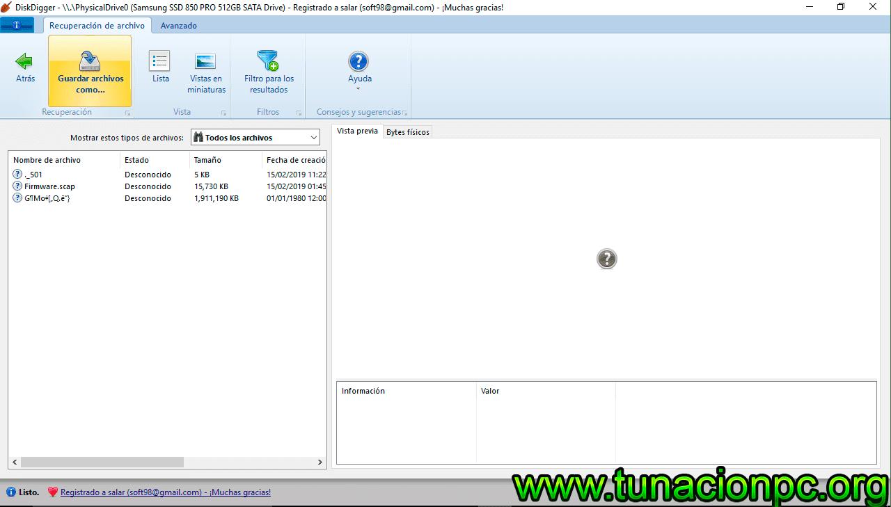 DiskDigger con Licencia