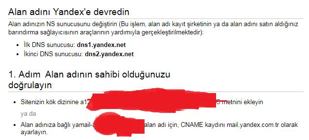 Ad Soyad Mail Adresi Almak (Yandex) 2