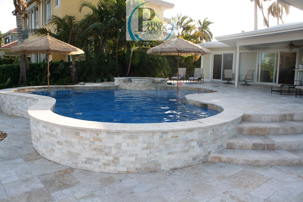 travertine stone - a great choice for driveway, patio, pool deck
