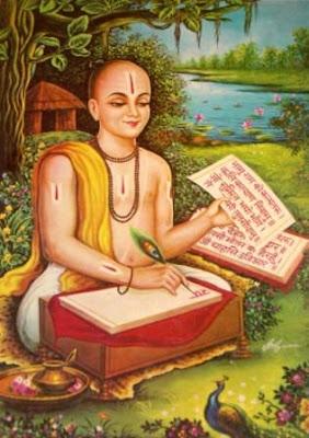 अवधी भाषा में रामायण | रामचरितमानस की रचना करते हुए संत तुलसीदास जी