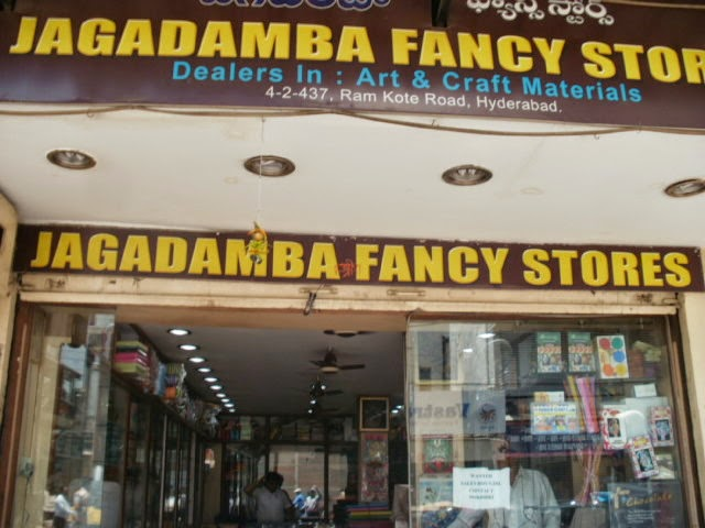 Jagadamba Fancy stores  sultan bazaar hyderabad