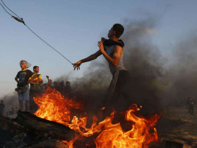 Palestinian killed by Israeli fire at protest near frontier