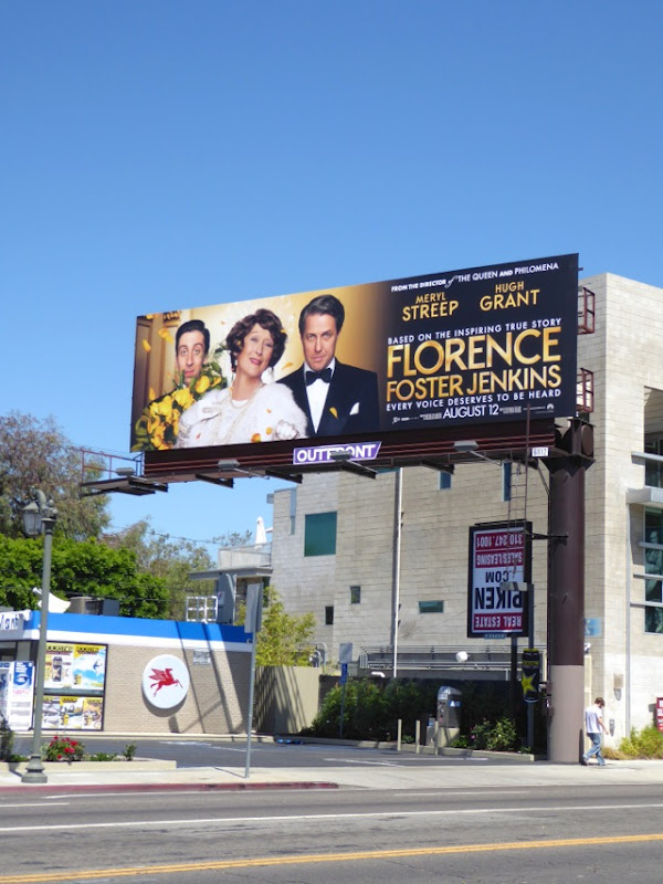 Florence Foster Jenkins film billboard