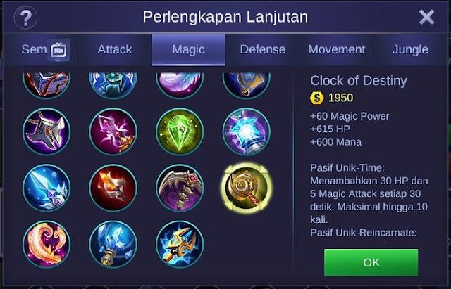 Clock of Destiny, Item Mage Penambah HP dan Mana Terbesar di Mobile Legends