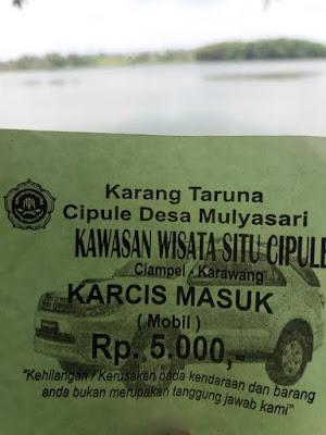 Wow,  Tiket Masuk Cipule Rp5 ribu/ Kendaraan