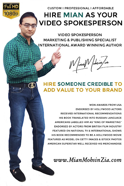 Mian Mohsin Zia - International Award Winning Author l Marketing & Publishing Specialist l Spokesmodel
