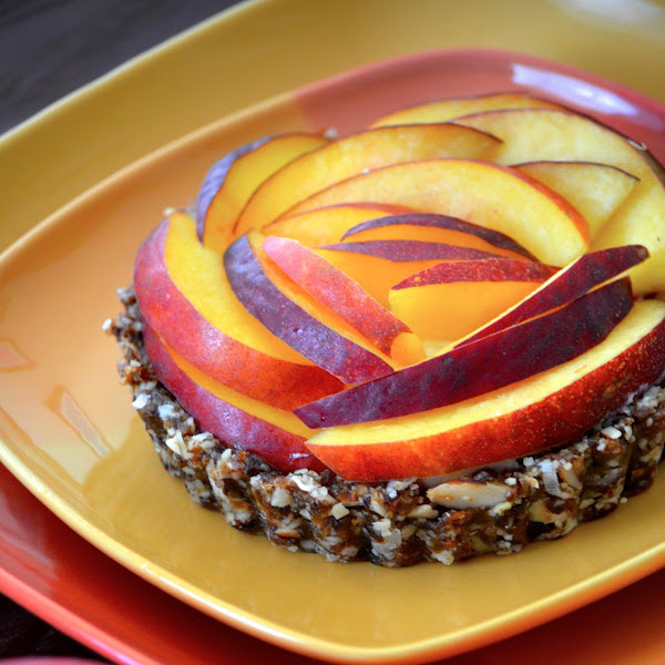 Honey Nectarine Tarts with No Bake Coconut Crust