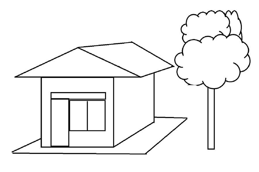 Mewarnai  Gambar Lingkungan Sekitar  Rumah