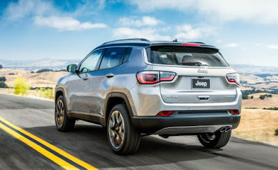 2017 Jeep Compass SUV in on road