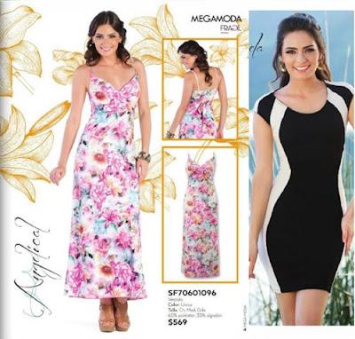 vestidos flores rayas mega 2016
