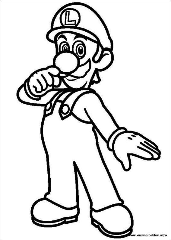 Mario Ausmalbilder - Malvorlage Gratis