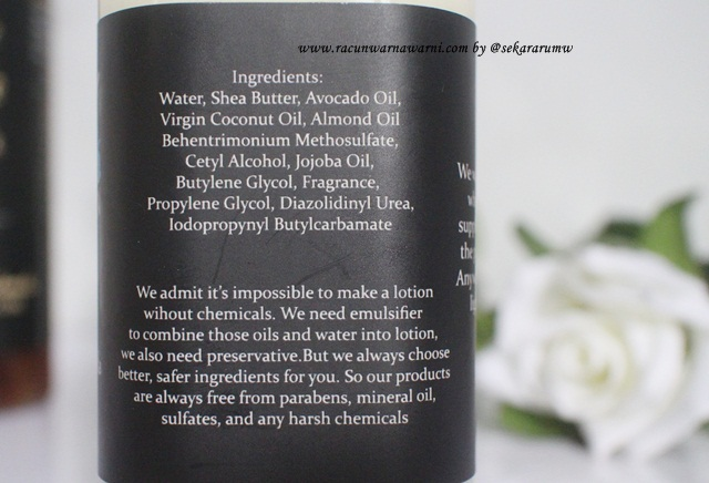 Ingredients Baby Attack Body Lotion