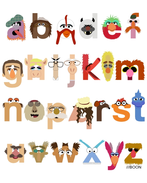 Mike BaBoon Design: The Great Muppet Alphabet (the sequel)