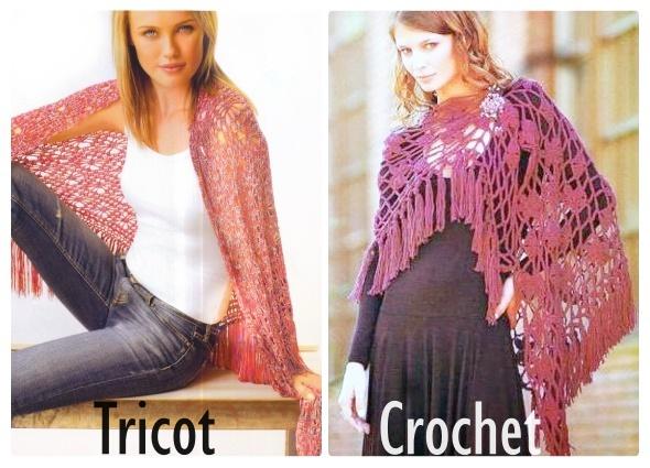 Chal estilo Made Spain Crochet-Tricot Patron