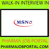MSN Laboratories Ltd Walk-In Drive for Freshers & Experienced Candidates at 31  October