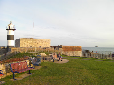 view of solent from southsea castle portsmouth