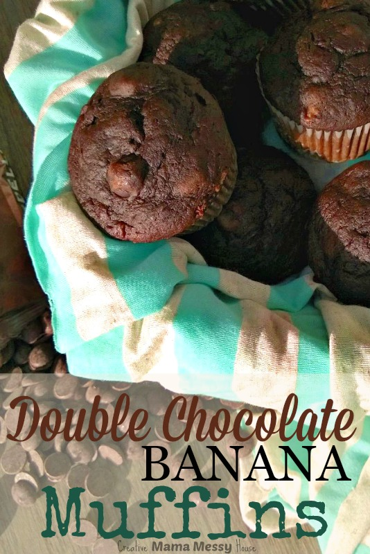 Start your morning with a double dose of chocolate with these Double Chocolate Banana Muffins. They make a wonderful afterschool snack with a glass of milk, too!