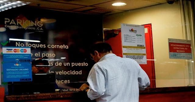 Nuevas tarifas de estacionamientos en Caracas serán cobradas en Euros y Petros