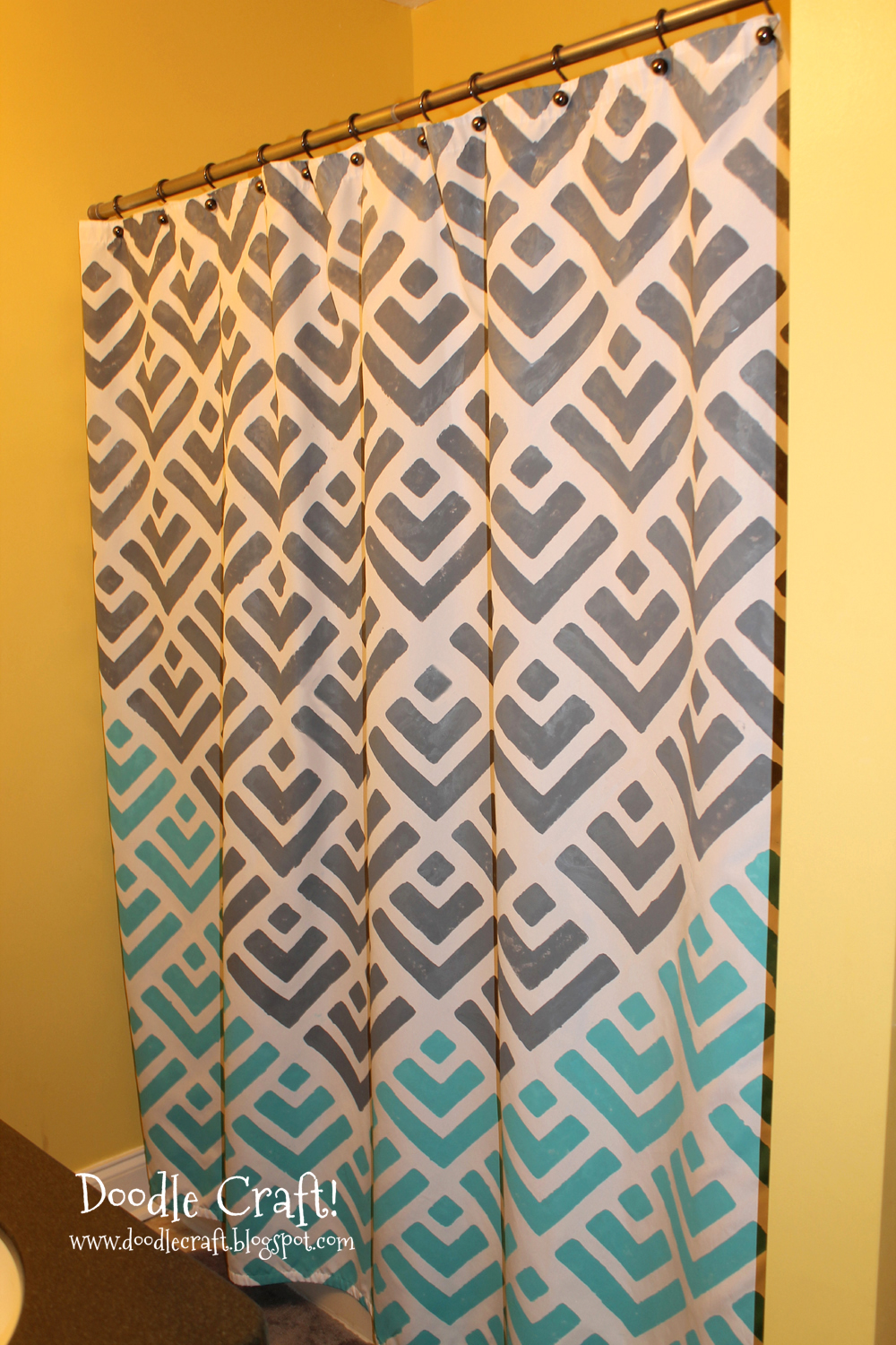 Stencil A Shower Curtain With Cutting Edge Stencils And A