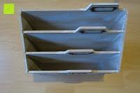 oben: Eurosell Holz Schreibtischorganizer Brief Post Ablage Briefablage Postablage Briefständer Vintage Retro Design Designer Dokumenten Prospekte Ständer