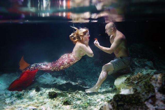 احدث الصور الرومانسية تحت الماء مع حورية البحر عالية الجودة 2018