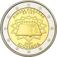 slovenia 2 euroa kolikko rooman sopimus 2007