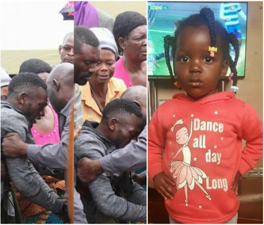Zambian Footballer who lost daughter during match against Nigeria breaks down as she is laid to rest (Photos) | Welcome To Dammy Martins's Blog