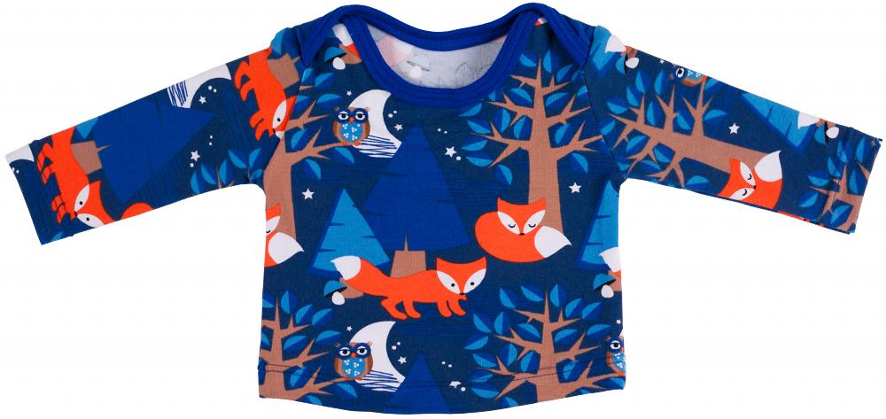c006acfaef50f6 Gratis patroon en werkbeschrijving longsleeve met enveloppehals. Tricot baby  shirt in maat ...
