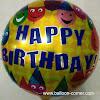 Balon Foil Bulat Motif HAPPY BIRTHDAY / Balon Foil Bulat HBD (07)