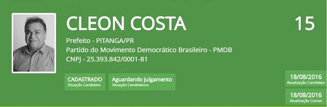 Pitanga: 04 candidatos disputarão as eleições municipais