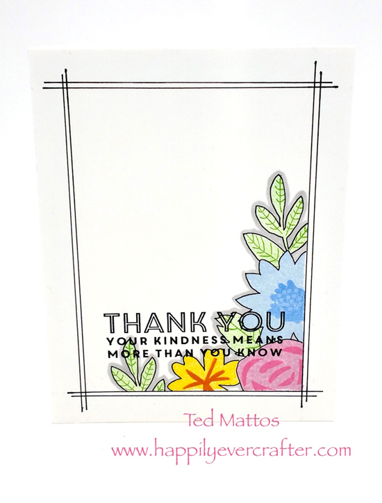Modern Blooms and Lisa Johnson Designs Words of Inspiration stamp sets - Ted Mattos #mftstamps